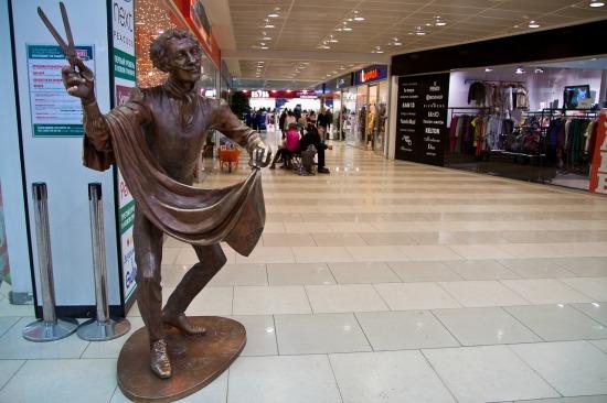 Скульптура «Портной» в ТРЦ Гринвич