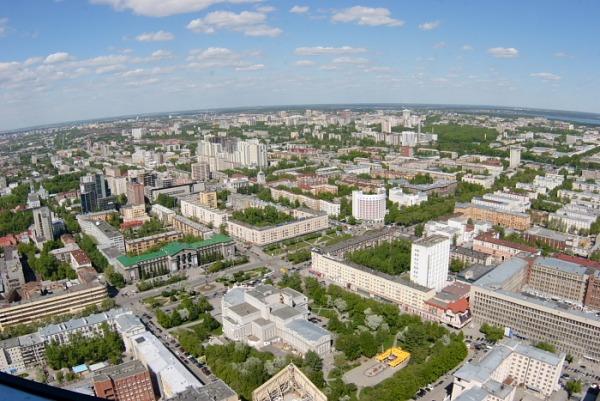 Обзорная площадка города на ТЦ Антей