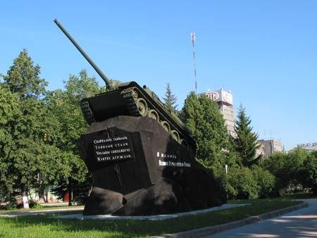 Самоходная артиллерийская установка на постаменте