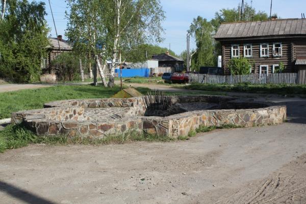 Фонтан на улице Комсомольская