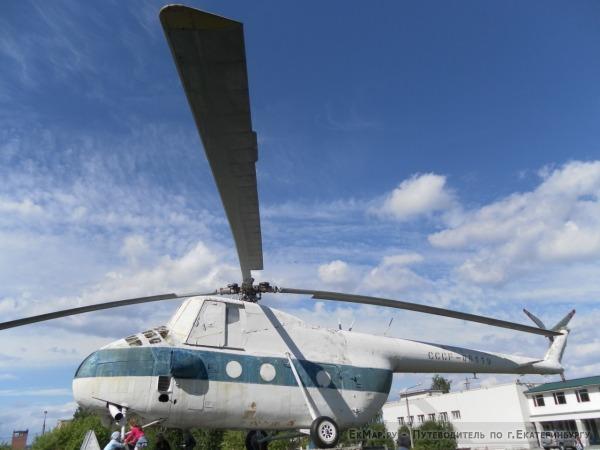 Памятник неутомимому труженику и помощнику (Вертолёт МИ-4)
