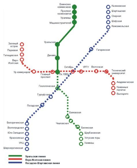 метро в Екатеринбурге в